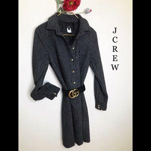 NEW | J.CREW | Wool Heringbone Shirtdress  NWOT 6